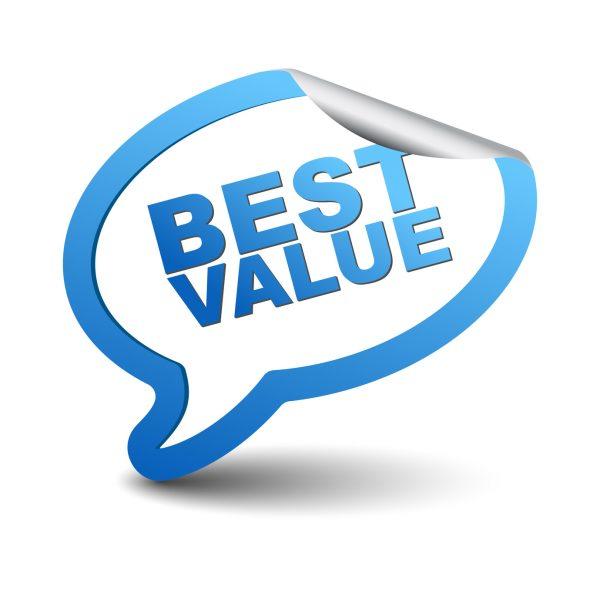 blue vector element bubble best value